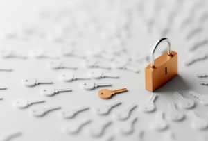 A lock and lots of keys to show our recruitment methods adhere to GDPR