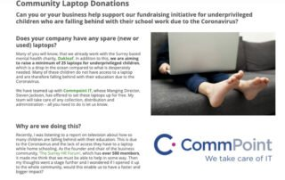 Community laptop donation