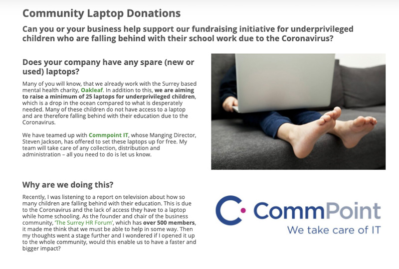 Community Laptop Donation