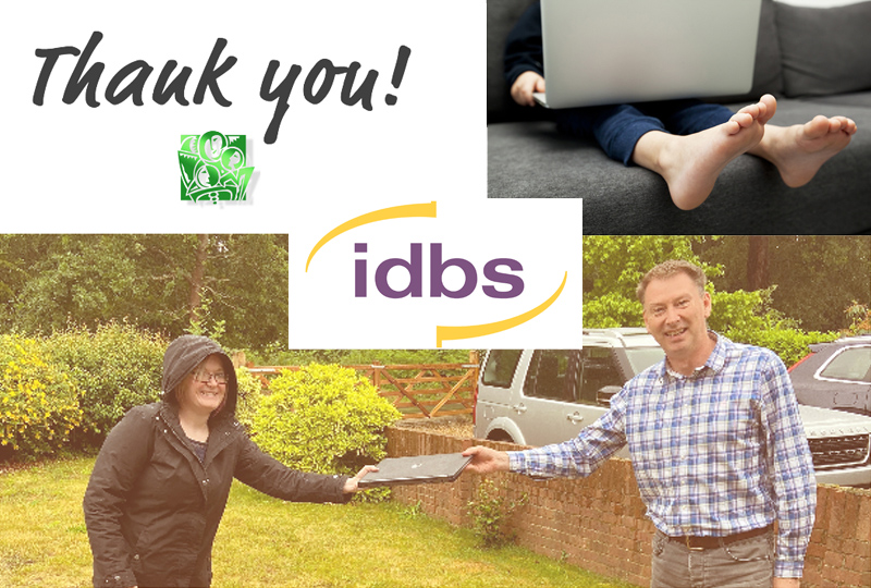 IDBS laptop donations