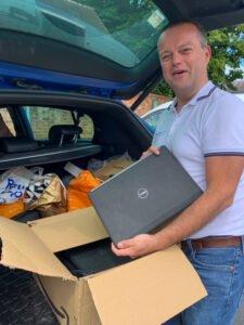 IDBS laptop arrival