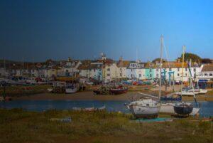 Shoreham By Sea shoreline with boats