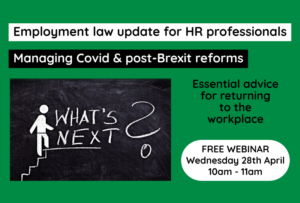 Employment law for HR professionals webinar icon