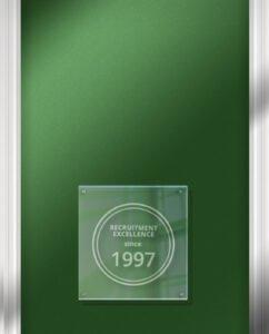 Recruitment Excellence since 1997 plaque