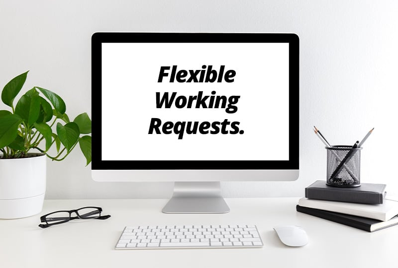 Making a flexible working request on an iMac computer